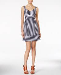 Maison Jules Striped A Line Dress Only At Macy's Black Combo