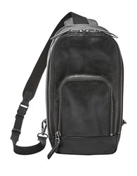 Fossil Mayfair Leather Crossbody Backpack Black