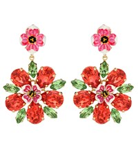 Dolce And Gabbana Crystal Clip On Earrings Gold
