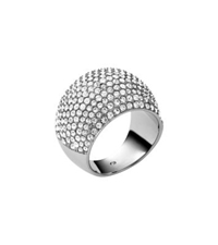 Michael Kors Pave Silver Tone Dome Ring