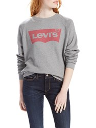 Levi's Relaxed Batwing Graphic Sweatshirt Smokestack