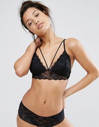 Pieces Daisy Bralette Black