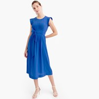 J.Crew Silk Midi Dress With Tie