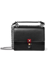 Fendi Mini Leather Shoulder Bag Black
