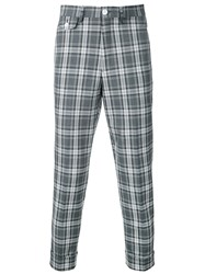 Education From Youngmachines Cropped Checked Pants Grey