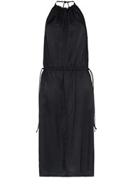 Helmut Lang Halterneck Gathered Dress Black