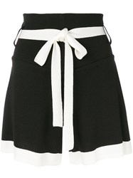 Eudon Choi Contrast Fitted Shorts Black