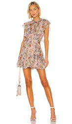 Marissa Webb Sully Mini Dress In Pink. Dusty Rose English Bouquet