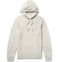 Club Monaco Donegal Cashmere Hoodie Ivory