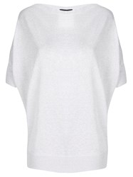 Fay Loose Knitted T Shirt Silver