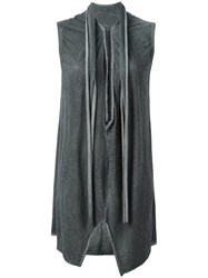 Lost And Found Ria Dunn Long Split Hem Sleeveless Top Grey