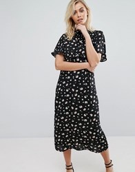 Fashion Union Midi Dress In Floral Midsummer Floral Multi