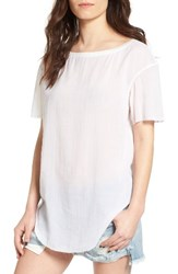 Treasure And Bond Women's Relaxed Woven Tee White