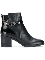 Geox Side Buckle Boots Black
