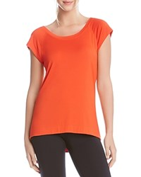 Karen Kane Criss Cross Back Tee Orange