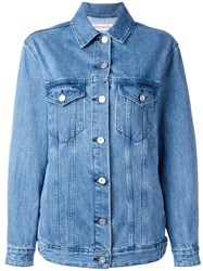 Etre Cecile 'L'avenue' Patch Denim Jacket Blue