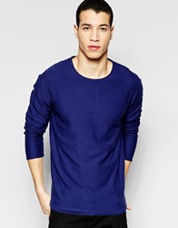 Jack And Jones Jack And Jones Knitted Jumper In Crew Neck Blue Depths