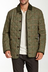 Barbour Grouse Olive Wool Jacket Green