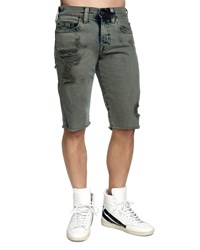 True Religion Ricky Distressed Denim Shorts Fdr Olive Backdro
