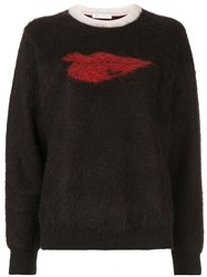 Bella Freud Hot Lips Textured Knit Jumper Black