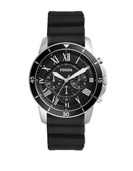 Fossil Grant Sport Stainless Steel Silicone Strap Watch Black