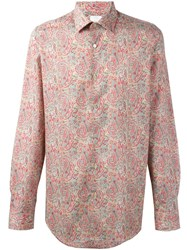 Paul Smith Paisley Print Shirt Blue