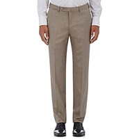 Ermenegildo Zegna Men's Wool Silk Trousers Brown