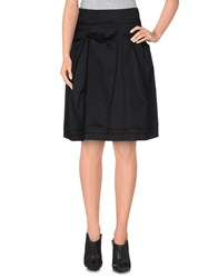 D.Exterior Skirts Knee Length Skirts Women Black