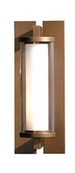 Hubbardton Forge Fuse Small Outdoor Sconce Bronze Brown