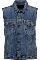 Proenza Schouler Denim Vest Mid Denim