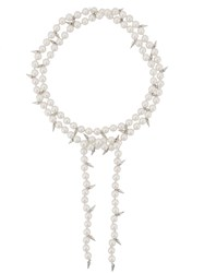 Fallon Double Layered Pearl Necklace White