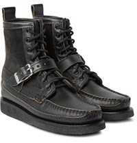 Yuketen Maine Guide Db Suede Panelled Leather Boots Black