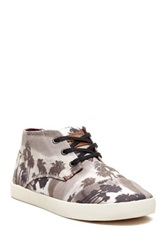 Toms Palm Tree Print Paseos Mid Shaft Sneaker Black