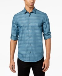 Alfani Men's James Striped Shirt Created For Macy's Nightscape