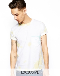 Reclaimed Vintage T Shirt With Tie Dye And Contrast Pocket Yellow