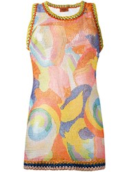 Missoni Patterned Knit Tank Top Women Polyester Rayon 40
