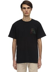 J.W.Anderson Logo Embroidery Cotton Jersey T Shirt Black