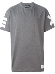 Ejxiii Printed Rear T Shirt Grey