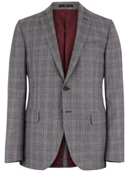 Jaeger Prince Of Wales Slim Blazer Grey