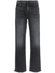 Rta Dexter Straight Leg Belted Jeans Black