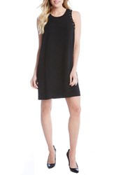 Karen Kane Women's Grommet Detail Crepe Shift Dress