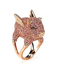 Kate Spade New York Pave Pig Cocktail Ring Pink Multi