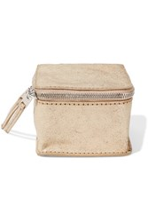 Rick Owens Textured Leather Cosmetics Case Gold