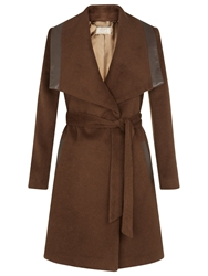 Planet Vicuna Belted Coat Brown