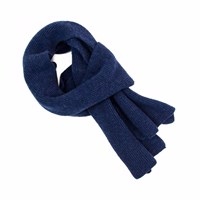 40 Colori Blue Solid Wool And Cashmere Scarf