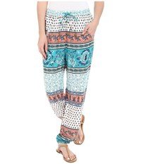 Roxy Sunday Noon Pant Sea Spray Tiered Paisley Women's Casual Pants