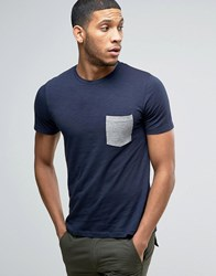 Jack And Jones Leopard Print Logo T Shirt In Navy Navy