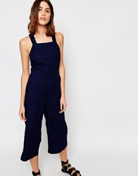 Warehouse Pinny Jumpsuit Indigo