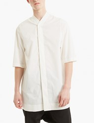 Rick Owens Off White Baseball Shirt