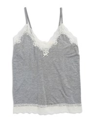 Flora Nikrooz Lace Trim Cami Heather Grey